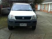 2004  holden rodeo on petrol and gas